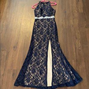 Long Evening Navy blue gown!